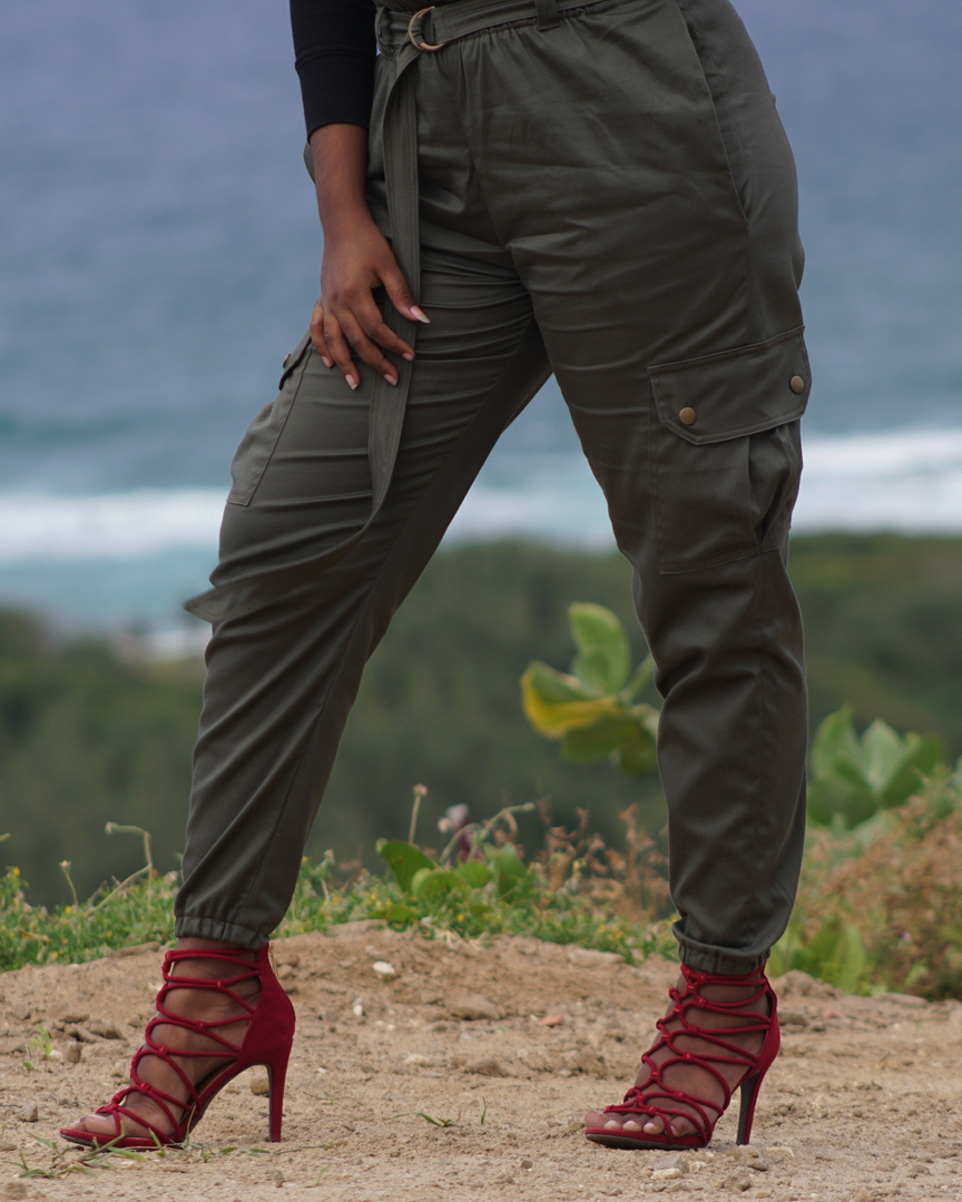 Rosy Pena Patterns Luisa Trousers with Cargo Pockets