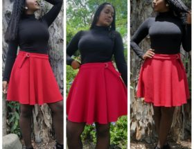 Lesley skirt by Burda Style front view 3